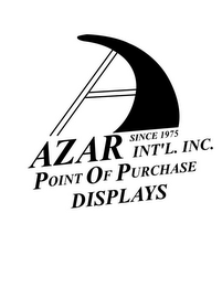 mark for AZAR INT'L. INC. SINCE 1975 POINT OF PURCHASE DISPLAYS, trademark #77211160