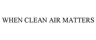 mark for WHEN CLEAN AIR MATTERS, trademark #77217016