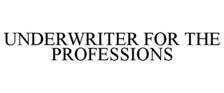 mark for UNDERWRITER FOR THE PROFESSIONS, trademark #77218411
