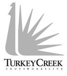 mark for TURKEY CREEK SHOP WORK LIVE, trademark #77220156