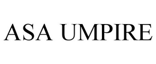 mark for ASA UMPIRE, trademark #77221848
