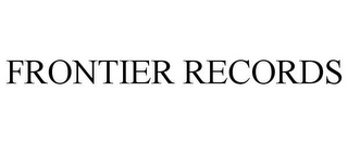 mark for FRONTIER RECORDS, trademark #77226381