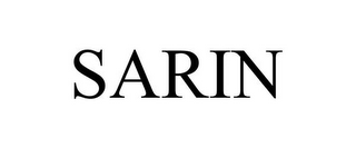 mark for SARIN, trademark #77226841