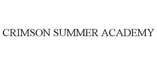 mark for CRIMSON SUMMER ACADEMY, trademark #77230581