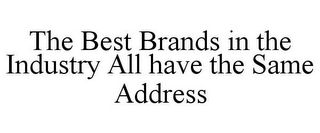 mark for THE BEST BRANDS IN THE INDUSTRY ALL HAVE THE SAME ADDRESS, trademark #77232444
