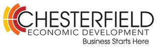 mark for CHESTERFIELD ECONOMIC DEVELOPMENT BUSINESS STARTS HERE, trademark #77232754