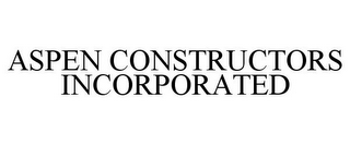 mark for ASPEN CONSTRUCTORS INCORPORATED, trademark #77239956