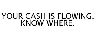 mark for YOUR CASH IS FLOWING. KNOW WHERE., trademark #77249148