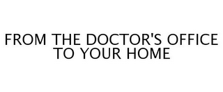 mark for FROM THE DOCTOR'S OFFICE TO YOUR HOME, trademark #77251023