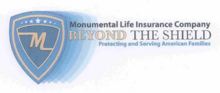 mark for MONUMENTAL LIFE INSURANCE COMPANY BEYOND THE SHIELD PROTECTING AND SERVING AMERICAN FAMILIES, trademark #77252126