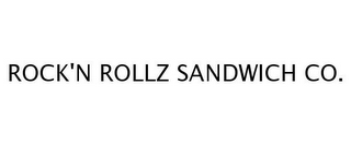 mark for ROCK'N ROLLZ SANDWICH CO., trademark #77254061