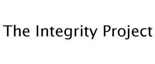 mark for THE INTEGRITY PROJECT, trademark #77254072
