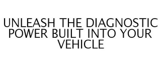 mark for UNLEASH THE DIAGNOSTIC POWER BUILT INTO YOUR VEHICLE, trademark #77261639
