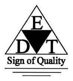mark for EDT SIGN OF QUALITY, trademark #77266436