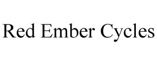 mark for RED EMBER CYCLES, trademark #77267146