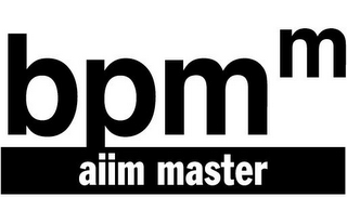 mark for BPMM AIIM MASTER, trademark #77268422