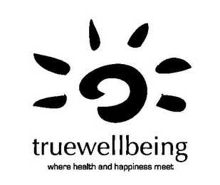mark for TRUEWELLBEING WHERE HEALTH AND HAPPINESS MEET, trademark #77271760
