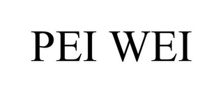 mark for PEI WEI, trademark #77272953