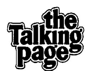 mark for THE TALKING PAGE, trademark #77277080