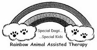 mark for SPECIAL DOGS... SPECIAL KIDS... RAINBOWANIMAL ASSISTED THERAPY, trademark #77277838