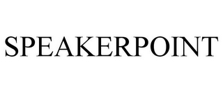 mark for SPEAKERPOINT, trademark #77283545