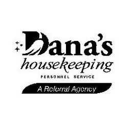 mark for DANA'S HOUSEKEEPING PERSONNEL SERVICE A REFERRAL AGENCY, trademark #77290848