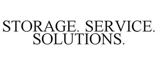 mark for STORAGE. SERVICE. SOLUTIONS., trademark #77296174