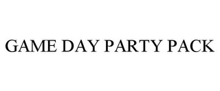 mark for GAME DAY PARTY PACK, trademark #77303150