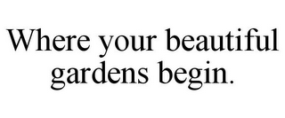 mark for WHERE YOUR BEAUTIFUL GARDENS BEGIN., trademark #77310413