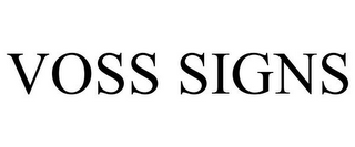 mark for VOSS SIGNS, trademark #77316164