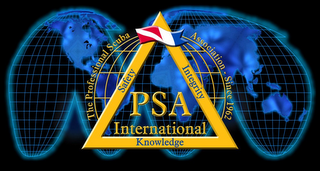 mark for PSA INTERNATIONAL KNOWLEDGE SAFETY INTEGRITY THE PROFESSIONAL SCUBA ASSOCIATION - SINCE 1962, trademark #77316594