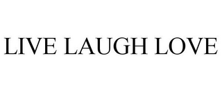mark for LIVE LAUGH LOVE, trademark #77320850