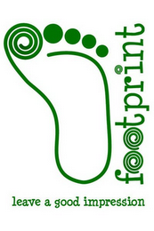 mark for FOOTPRINT LEAVE A GOOD IMPRESSION, trademark #77324489