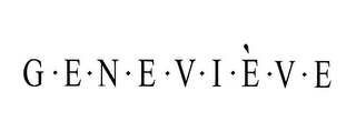 mark for GENEVIÈVE, trademark #77327269