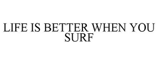 mark for LIFE IS BETTER WHEN YOU SURF, trademark #77329412