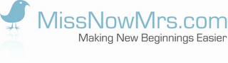 mark for MISSNOWMRS.COM MAKING NEW BEGINNINGS EASIER, trademark #77334990