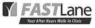 mark for FAST LANE YOUR AFTER HOURS WALK-IN CLINIC, trademark #77338644