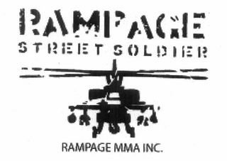 mark for RAMPAGE STREET SOLDIER RAMPAGE MMA INC., trademark #77347009