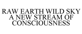 mark for RAW EARTH WILD SKY A NEW STREAM OF CONSCIOUSNESS, trademark #77355063