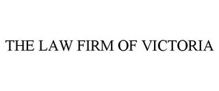 mark for THE LAW FIRM OF VICTORIA, trademark #77359560