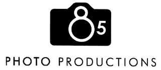 mark for 85 PHOTO PRODUCTIONS, trademark #77368997