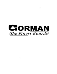 mark for GORMAN THE FINEST BOARDS, trademark #77371528