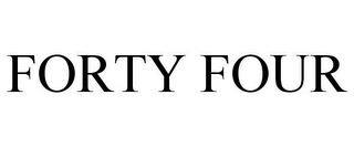 mark for FORTY FOUR, trademark #77375367