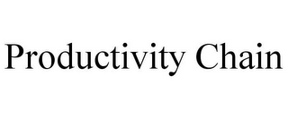mark for PRODUCTIVITY CHAIN, trademark #77377005