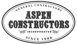 mark for ASPEN CONSTRUCTORS INCORPORATED GENERAL CONTRACTORS SINCE 1988, trademark #77377049
