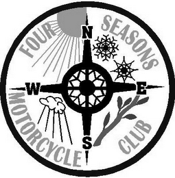 mark for FOUR SEASONS MOTORCYCLE CLUB N W S E, trademark #77382669