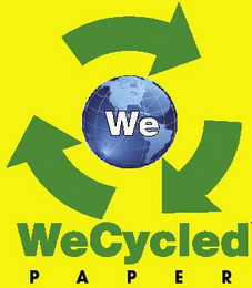 mark for WE WECYCLED PAPER, trademark #77384693