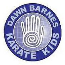 mark for DAWN BARNES KARATE KIDS, trademark #77385461