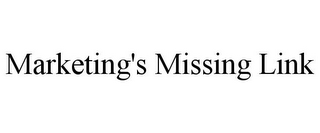 mark for MARKETING'S MISSING LINK, trademark #77391410