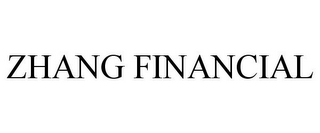 mark for ZHANG FINANCIAL, trademark #77395282